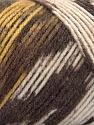 Fasergehalt 50% Wolle, 50% Acryl, Yellow, Brand Ice Yarns, Cream, Brown Shades, fnt2-56448