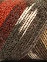 Fasergehalt 50% Acryl, 50% Wolle, Brand Ice Yarns, Cream, Copper, Brown Shades, fnt2-56449