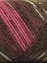 Fasergehalt 50% Acryl, 50% Wolle, Pink, Maroon, Brand Ice Yarns, Brown Shades, fnt2-56450