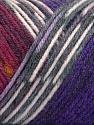 Fiber Content 50% Acrylic, 50% Wool, White, Purple, Brand ICE, Grey, Burgundy, Yarn Thickness 3 Light  DK, Light, Worsted, fnt2-56453
