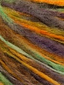 Fiber Content 48% Extrafine Merino Wool, 27% Alpaca, 25% Polyamide, Brand ICE, Green, Gold, Camel, Yarn Thickness 4 Medium  Worsted, Afghan, Aran, fnt2-56730
