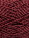 Fiber Content 70% Acrylic, 30% Wool, Brand ICE, Burgundy, Yarn Thickness 4 Medium  Worsted, Afghan, Aran, fnt2-56862