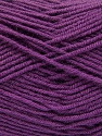 Fiber Content 70% Acrylic, 30% Wool, Purple, Brand ICE, Yarn Thickness 4 Medium  Worsted, Afghan, Aran, fnt2-56863