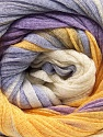 Fiber Content 100% Cotton, White, Lilac, Brand ICE, Gold, Yarn Thickness 4 Medium  Worsted, Afghan, Aran, fnt2-56909
