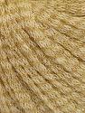 Fiber Content 77% Wool, 12% Polyamide, 11% Metallic Lurex, Brand ICE, Gold, Cream, fnt2-56966