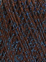 Fiber Content 85% Viscose, 25% Metallic Lurex, Brand ICE, Dark Brown, Blue, fnt2-57035