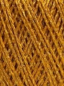 Fiber Content 85% Viscose, 25% Metallic Lurex, Brand ICE, Gold, Yarn Thickness 3 Light  DK, Light, Worsted, fnt2-57039