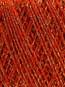 Fiber Content 85% Viscose, 25% Metallic Lurex, Orange, Brand ICE, Gold, fnt2-57040