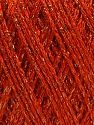 Fiber Content 85% Viscose, 25% Metallic Lurex, Orange, Brand ICE, Copper, fnt2-57041