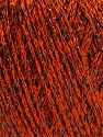 Fiber Content 85% Viscose, 25% Metallic Lurex, Orange, Brand ICE, Black, Yarn Thickness 3 Light  DK, Light, Worsted, fnt2-57042