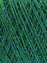 Fiber Content 85% Viscose, 25% Metallic Lurex, Brand ICE, Green, Blue, fnt2-57043