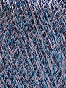 Fiber Content 75% Viscose, 25% Metallic Lurex, Lilac, Brand ICE, Blue, Yarn Thickness 2 Fine  Sport, Baby, fnt2-57044