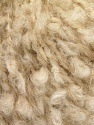 Fiber Content 53% Acrylic, 25% Mohair, 12% Polyester, 10% Wool, Brand ICE, Cream, fnt2-57143
