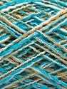 Fiber Content 90% Acrylic, 10% Polyamide, White, Turquoise, Brand ICE, Beige, fnt2-57874
