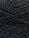 Fiber Content 8% Polyamide, 50% Acrylic, 25% Wool, 2% Elastan, 15% Alpaca, Brand ICE, Black, fnt2-57914