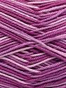 Ne: 8/4. Nm 14/4 Fiber Content 100% Mercerised Cotton, Lilac Shades, Brand ICE, Yarn Thickness 2 Fine  Sport, Baby, fnt2-57925
