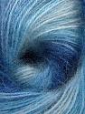 Fiber Content 75% Acrylic, 25% Angora, Brand ICE, Blue Shades, fnt2-58017
