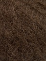 Knitted as 4 ply Fiber Content 40% Polyamide, 30% Kid Mohair, 30% Acrylic, Brand ICE, Dark Brown, Yarn Thickness 1 SuperFine  Sock, Fingering, Baby, fnt2-58074