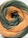 Fiber Content 90% Acrylic, 10% Polyamide, Light Salmon, Brand ICE, Grey Shades, Yarn Thickness 4 Medium  Worsted, Afghan, Aran, fnt2-58123