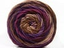 Fiber Content 100% Acrylic, Purple Shades, Brand ICE, Brown Shades, Yarn Thickness 4 Medium  Worsted, Afghan, Aran, fnt2-58138