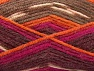 Fiber Content 50% Wool, 50% Acrylic, Purple, Orange, Brand ICE, Fuchsia, Brown Shades, fnt2-58279