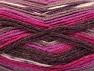 Fiber Content 50% Acrylic, 50% Wool, Purple, Maroon, Lilac, Brand ICE, Fuchsia, fnt2-58280