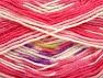 Fiber Content 75% Acrylic, 25% Wool, White, Pink, Brand ICE, fnt2-58390