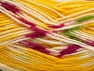 Fiber Content 75% Acrylic, 25% Wool, Yellow, White, Brand ICE, fnt2-58391