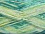 Fiber Content 50% Premium Acrylic, 50% Cotton, Brand ICE, Green Shades, Yarn Thickness 2 Fine  Sport, Baby, fnt2-58413