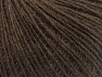 Fiber Content 55% Acrylic, 25% Alpaca, 20% Wool, Brand ICE, Dark Brown, fnt2-58489