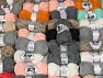Winter Yarns This mixed lot includes a total of 2000 gr (70.5 oz.) leftover yarns. There is no standard for fiber content and weight. Also disregard any information on the labels. You will get what you see in the photo. Brand ICE, fnt2-58705