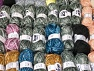 Fancy Yarns This mixed lot includes a total of 2000 gr (70.5 oz.) leftover yarns. There is no standard for fiber content and weight. Also disregard any information on the labels. You will get what you see in the photo. Brand ICE, fnt2-58772