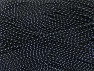 Fiber Content 96% Premium Acrylic, 4% Metallic Lurex, Silver, Brand ICE, Black, fnt2-59055