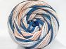 Fiber Content 50% Polyamide, 50% Acrylic, Light Salmon, Brand ICE, Blue, Beige, fnt2-59356