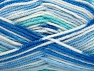 Fiber Content 100% Acrylic, White, Brand ICE, Blue Shades, fnt2-59727