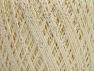 Fiber Content 75% Viscose, 25% Metallic Lurex, Pearl, Brand ICE, Cream, fnt2-59796
