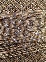 Fiber Content 70% Polyester, 30% Metallic Lurex, Brand YarnArt, Silver, Camel, Yarn Thickness 0 Lace  Fingering Crochet Thread, fnt2-17344