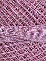 Fiber Content 70% Polyester, 30% Metallic Lurex, Brand YarnArt, Silver, Pink, Yarn Thickness 0 Lace  Fingering Crochet Thread, fnt2-17348