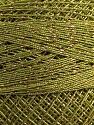 Fiber Content 70% Polyester, 30% Metallic Lurex, Brand YarnArt, Green, Gold, Yarn Thickness 0 Lace  Fingering Crochet Thread, fnt2-17356