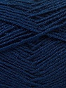 Fiber Content 55% Virgin Wool, 5% Cashmere, 40% Acrylic, Navy, Brand Ice Yarns, Yarn Thickness 2 Fine  Sport, Baby, fnt2-21123
