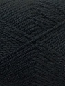 Fiber Content 100% Acrylic, Brand ICE, Black, Yarn Thickness 2 Fine  Sport, Baby, fnt2-23579