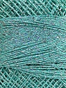 Vezelgehalte 70% Polyester, 30% Metallic lurex, Silver, Mint Green, Brand Ice Yarns, Yarn Thickness 0 Lace  Fingering Crochet Thread, fnt2-40705