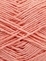 Please note that the yarn weight and the ball length may vary from one color to another for this yarn. Fiber Content 100% Cotton, Light Salmon, Brand Ice Yarns, Yarn Thickness 3 Light  DK, Light, Worsted, fnt2-40917