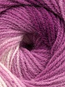 Fiber indhold 100% Baby Akryl, White, Orchid, Maroon, Brand ICE, Yarn Thickness 2 Fine  Sport, Baby, fnt2-41726