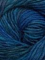 Fiber Content 70% Dralon, 30% Wool, Brand ICE, Blue Shades, Yarn Thickness 4 Medium  Worsted, Afghan, Aran, fnt2-42698