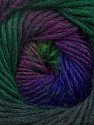 Fiber Content 70% Dralon, 30% Wool, Purple, Brand Ice Yarns, Green Shades, Blue, Yarn Thickness 4 Medium  Worsted, Afghan, Aran, fnt2-42764