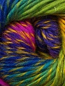 Fiber Content 70% Dralon, 30% Wool, Yellow, Turquoise, Brand ICE, Green, Fuchsia, Blue, Yarn Thickness 4 Medium  Worsted, Afghan, Aran, fnt2-42777