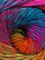 Fiber Content 70% Dralon, 30% Wool, Turquoise, Purple, Pink, Brand Ice Yarns, Green, Yarn Thickness 4 Medium  Worsted, Afghan, Aran, fnt2-43142