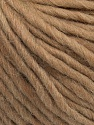 Fiber indhold 50% Virgin Uld, 40% Alpaka, 10% Akryl, Brand Ice Yarns, Camel, Yarn Thickness 5 Bulky  Chunky, Craft, Rug, fnt2-43727