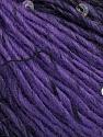 Fiber Content 65% Dralon Acrylic, 4% Paillette, 31% Wool, Purple, Brand Ice Yarns, Black, Yarn Thickness 3 Light  DK, Light, Worsted, fnt2-44478